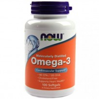 Now Foods Omega 3 100капсул